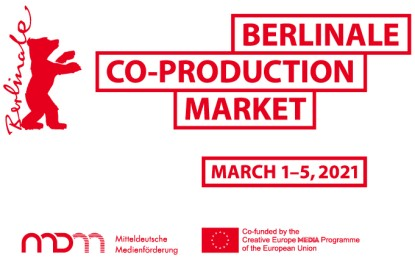 The Berlinale Co-Production Market 2021 is held with the support of Creative Europe - MEDIA Programme of the European Union, and MDM - Mitteldeutsche Medienförderung.